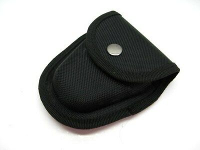 Black Heavy Duty Nylon Handcuff Cuff Tactical Belt Case Snap Closure Pouch