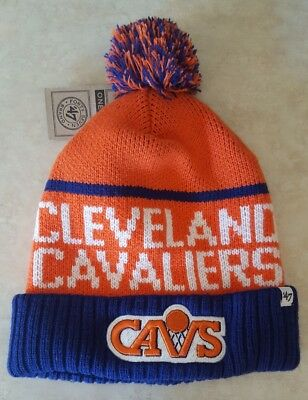 7eea25632fa CLEVELAND CAVALIERS Hat Knit Cap Pom Embroidered Logo Beanie Lineman Cuff  New