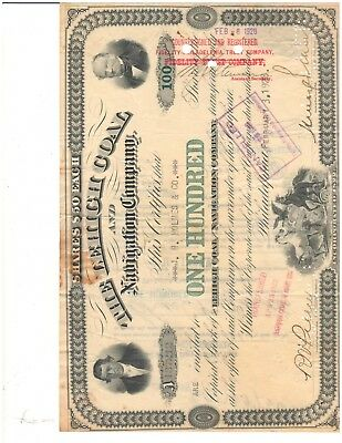Collection of Old Stock Certificates , 3 Coal Companies, 1 Publisher