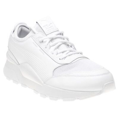 NEW MENS PUMA White Rs-0 Sound Leather Trainers Chunky Lace Up - EUR ... c4be5cd56