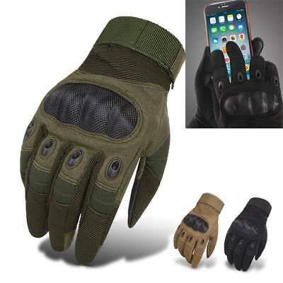 Touch Screen Tactical Full Finger Gloves Paintball Airsoft Shooting Hard Knuckle