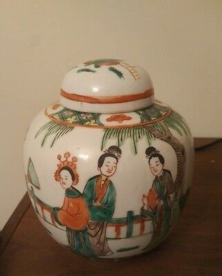 Beautiful Antique Chinese Porcelain Tea Caddy