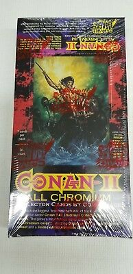 1994 Conan 2 ALL CHROMIUM Trading Card Sealed Collector Pack Box