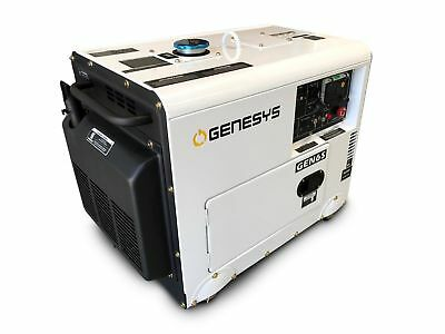 Diesel Generator 6 kVA Max 240V / 12HP Single Phase Silenced *FREE DELIVERY*