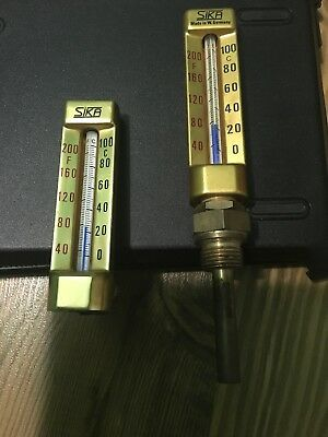 SIKA Brass Industrial Thermometers 200F/100C FREE SHIPPING