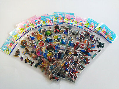 Childrens Boys Girls Puffy Sticker Kids Party Favors Bag Fillers Stickers