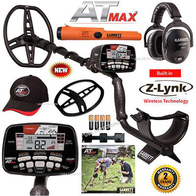 NEW Garrett AT MAX With MS-3 Wireless HP + FREE Pro-Pointer AT Z-Lynk Pinpointer
