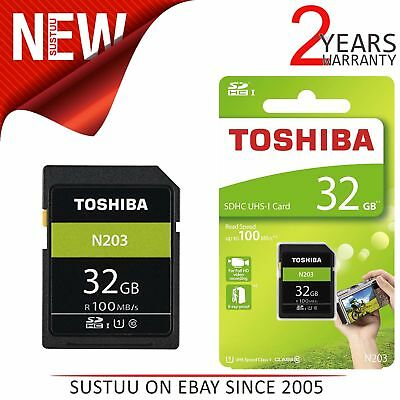 Toshiba 32GB N203 Class 10 SD Card with Adapter│100MB/s│Camera│THN-N203N0320E4