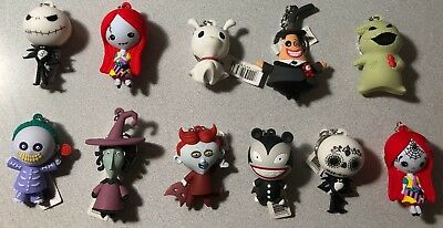 The Nightmare Before Christmas - Disney Figural Key Ring - Pick Character(s) NEW