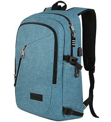 """Womens Fashion Laptop Backpack Fit 15.6"""" Computer Water Resistant Crest Blue New"""