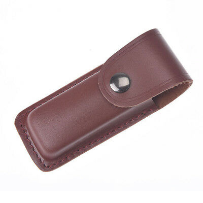 Real Leather Sheath Pocket Folding Cutting Multi Tool Case Pouch Holster 12.5cm