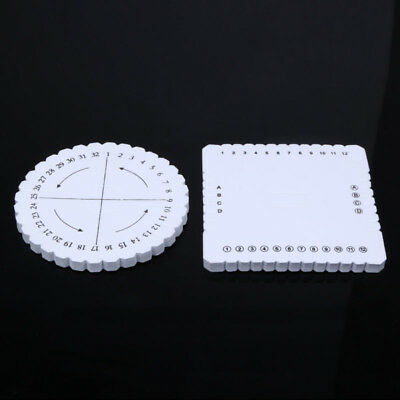 2Pc/set Practical Round Square Beading Cord Disc/Disk Braiding Plate Accessories