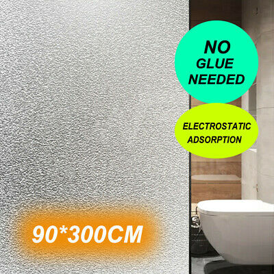 90cm×3M Sand Blast Clear Privacy Windows Frosted Decorative Glass Film Removable