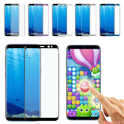 Full Cover Tempered Glass Screen Protector For Samsung A8 2018/Galaxy S8 lot HH