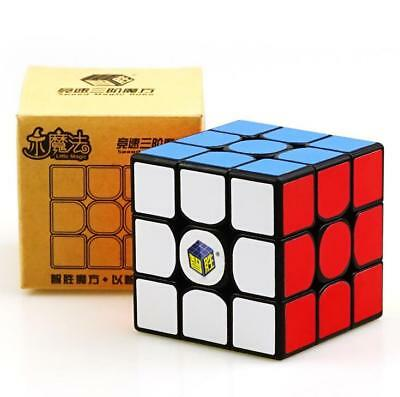 YuXin Little Magic 3x3x3 Twisty Puzzle Cube Speed  Magic Cube Black 5.5CM