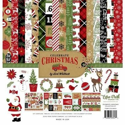 New Echo Park Paper Co Christmas 12 x 12 Paper Collection Kit - cch159016