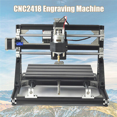 CNC Router Mini Desktop Laser Engraving Machine Wood PCB Engraver Milling 2418