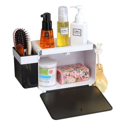 Adhesive Shelf Storage Organizer with Hook for Bathroom No Drilling Wall Mounted