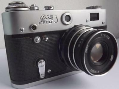TWO vintage russian cameras FED-3 and FED-5 b Leica copy  RARE working coll