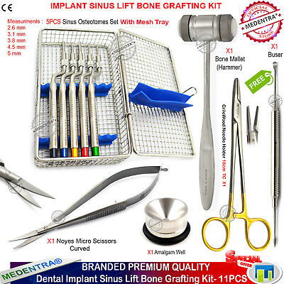 Sinus Implant Expanding Osteotomes Offset CrileWood Forceps Bone Hammer Buser CE