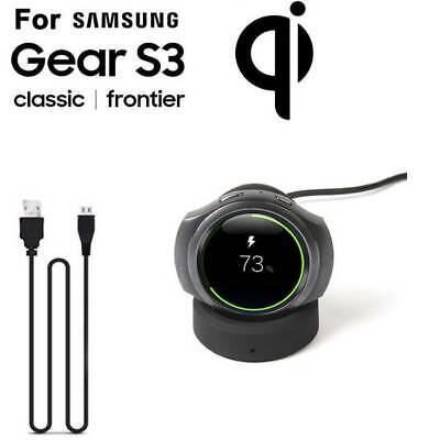 US Wireless Charging Cradle Smart Watch Charger Dock For Samsung Gear S2&S3