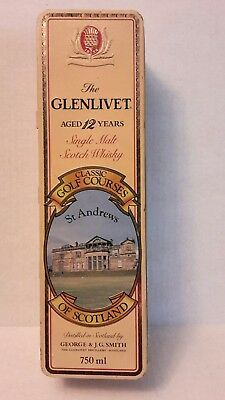The Glenlivet Aged 12 Yrs Single Malt Whiskey Tin Box