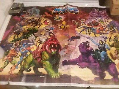 MASTERS OF THE UNIVERSE vintage large poster 1984 Mattel William George artist