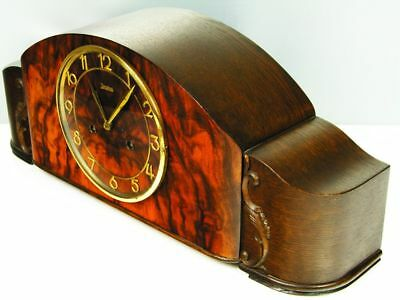 Beautiful Art Deco Chiming Mantel Clock From Junghans With Pendulum