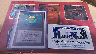 MTG Repack Unlimited Mox Emerald LIMITED AUCTION SERIES #2! 1:100 Odds of Power!