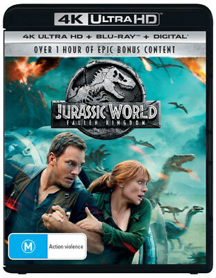 Jurassic World: Fallen Kingdom (4K UHD/Blu-ray/UV)  - BLU-RAY - NEW Region B