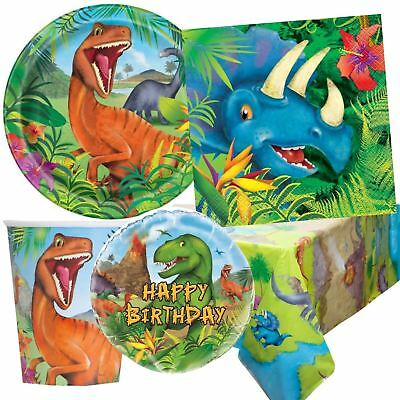 Dinosaur Birthday Party Tableware Boys Girls Jurassic Dino Decorations T Rex