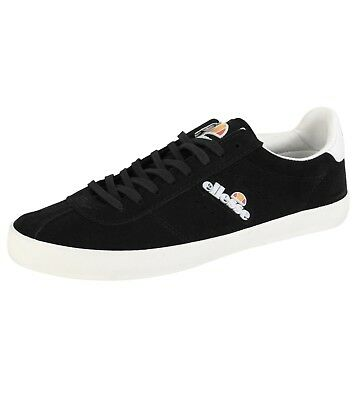 fc8b66008ae258 ellesse Avellino Vulc Low Canvas Fashion Shoes Casual Trainers Suede Black
