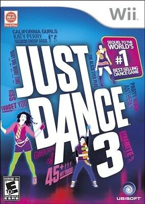 Nintendo Wii Game Just Dance 3 Brand New & Factory Sealed