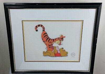 Disney Winnie the Pooh Tigger Too Sericel Ltd Ed TIgger Tackle Animation Art