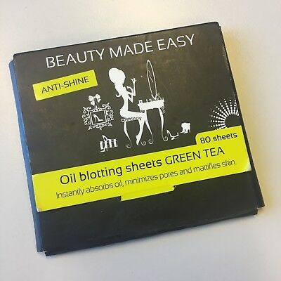 Beauty Made Easy Anti Shine Oil Blotting Sheets Green Tea Paper Mattierend