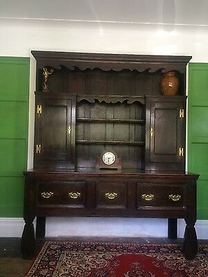 Large Oak Dresser Georgian Antique Continental Belgian Lovely Rare Piece c1780