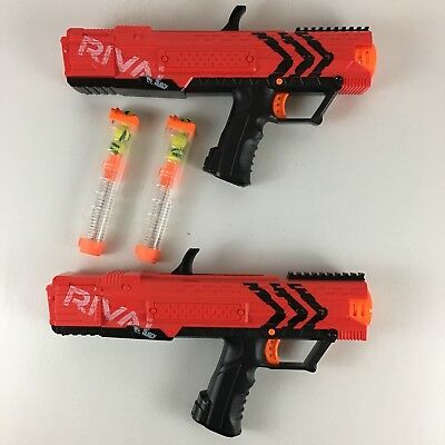 Nerf Rival Apollo XV-700 Red Blaster Dart Guns With  6 Foam Balls Lot of 2