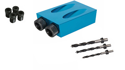 Pocket Hole Screw Jig with Dowel Drill Set Carpenters Wood Joint Tool