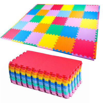 Kid 60cm Eva Foam Children Soft Play Exercise Mats Safe Interlocking Solid Tiles