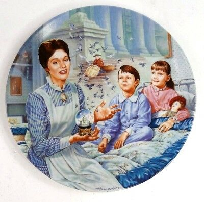 """8"""" Mary Poppins Plate Tuppence a Bag 1991 with Box & COA"""