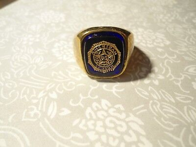 1 Goldplated Blue Sapphire American Legion Ring What Is Your Size 10-11 or 12