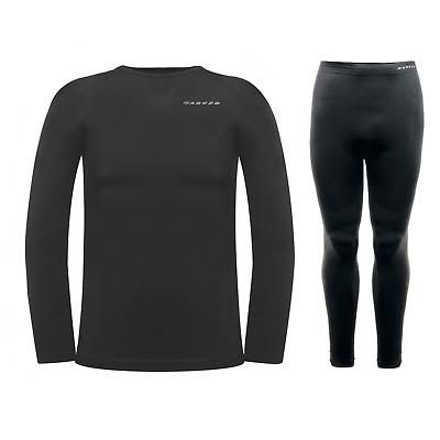 Dare2b Zonal III Mens Base Layer Set Thermal Long Sleeve Black