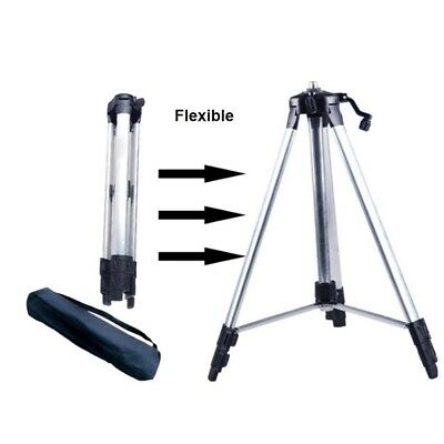 110/150cm Adjustable Tripod Carbon Aluminum Mount with 5/8 Adapter Laser Level
