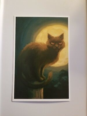 Lantern Press - Black Cat & Moon - Shipping Only $0.69 for Every 4 Purchased!