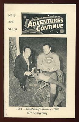 The Adventure Continues #16 - Scarce Superman Tv Show Fanzine - George Reeves