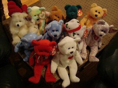 Beanie Babies lot of 11  All Bears Fantastic mix, many rare all with tags