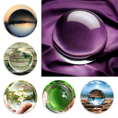 K9 Glass Crystal Ball 80-110mm Sphere Photography Photo Props Lensball Decor