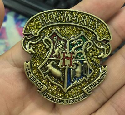 Big Bronze Harry Potter Hogwarts School Symbol Badge Brooth Pin 5CM