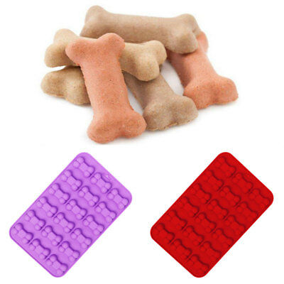 2PCS Dog Bone Silicone Baking Pan Mold Ice Tray Puppy Cookie Non Stick Mould DIY