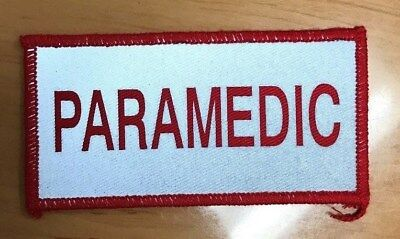Red/Silver Paramedic Reflective Patch Small